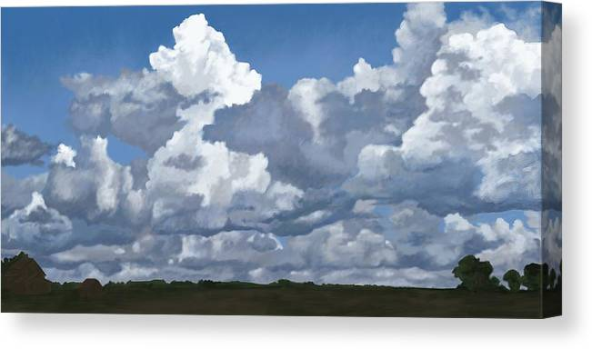 Landscape Canvas Print featuring the digital art Cloud Study by Jeanne Cutler