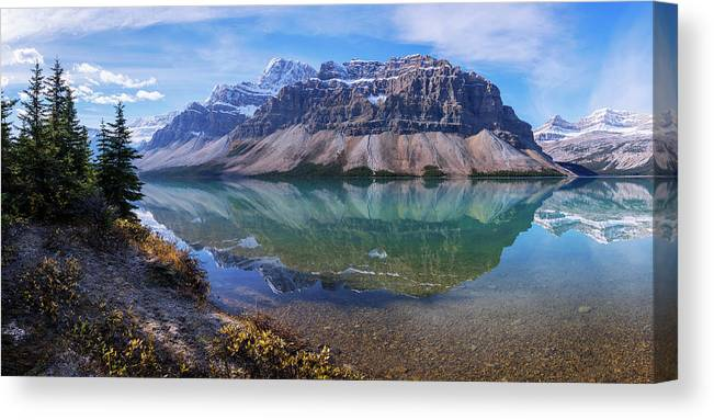 Crowfoot Reflection Canvas Print featuring the photograph Crowfoot Reflection by Chad Dutson
