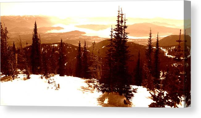 Ski Canvas Print featuring the photograph Great Divide by Robert Bissett