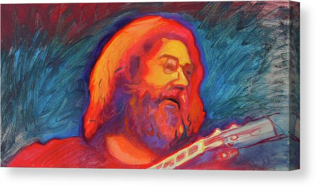 Jerry Garcia Canvas Print featuring the painting Jerry 4 by Pam Baker