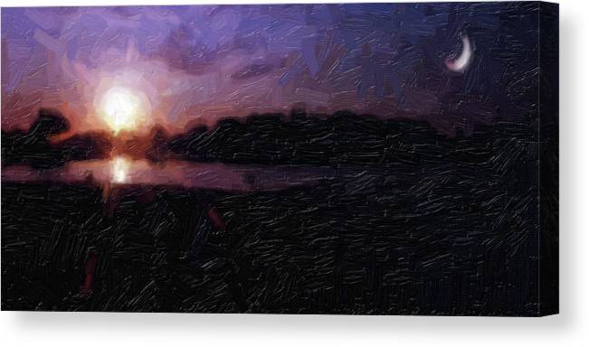Sunset Canvas Print featuring the photograph Na-35 by Michael Fencik