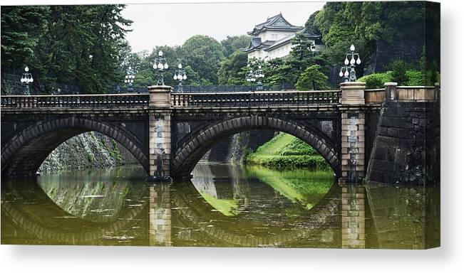 Bridge Canvas Print featuring the photograph Nijubashi Bridge At Imperial Palace by Keith Levit