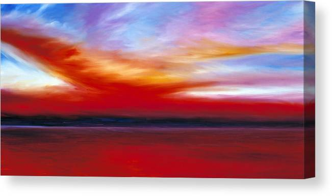 Clouds Canvas Print featuring the painting October Sky by James Christopher Hill