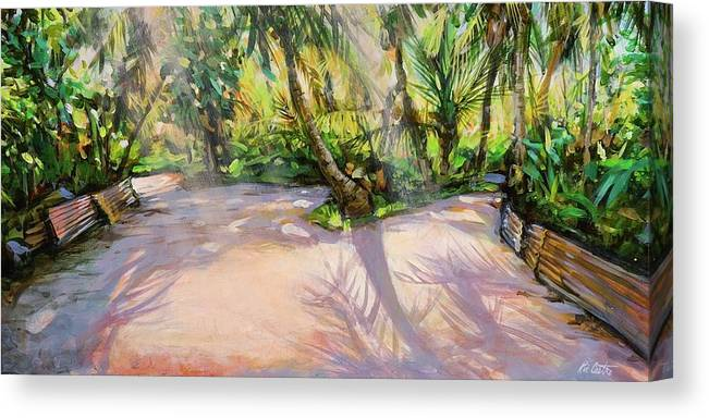 Landscape Canvas Print featuring the painting Pink Tin by Ric Castro
