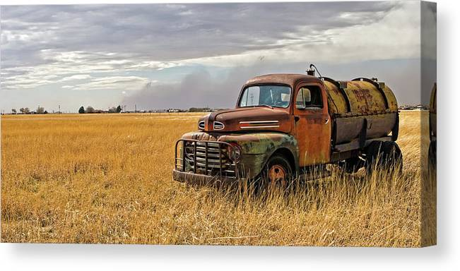 Automotive Canvas Print featuring the photograph Texas Truck Ws by Peter Tellone