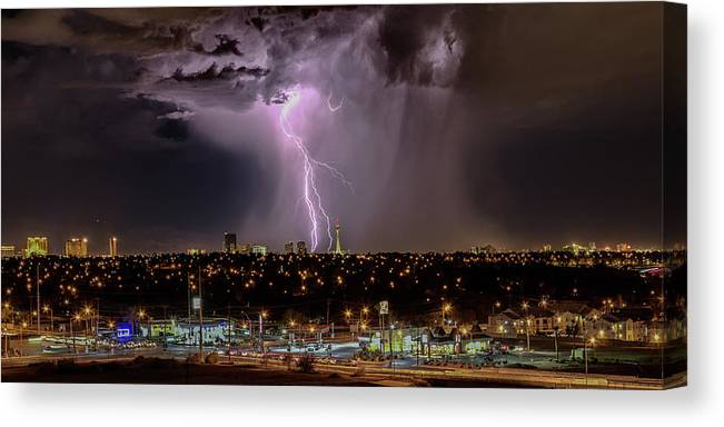 Canvas Print featuring the photograph The North American Monsoon by Michael Rogers
