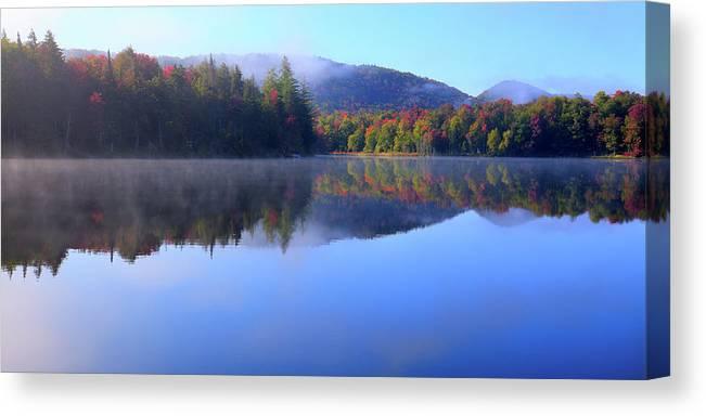 Autumn Mist Canvas Print featuring the photograph Autumn Mist by David Patterson