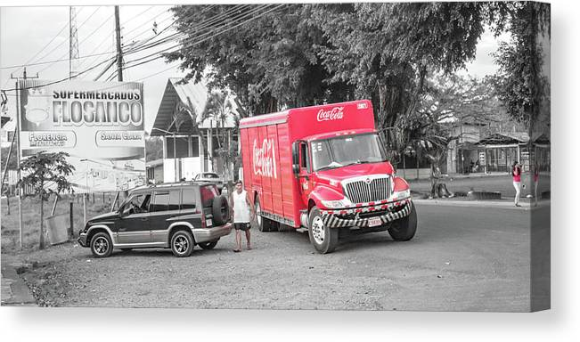 Costa Canvas Print featuring the photograph Costa Rica Soda Truck by Betsy Knapp