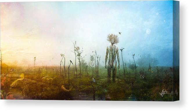 Surreal Landscape Canvas Print featuring the digital art Internal Landscapes by Mario Sanchez Nevado