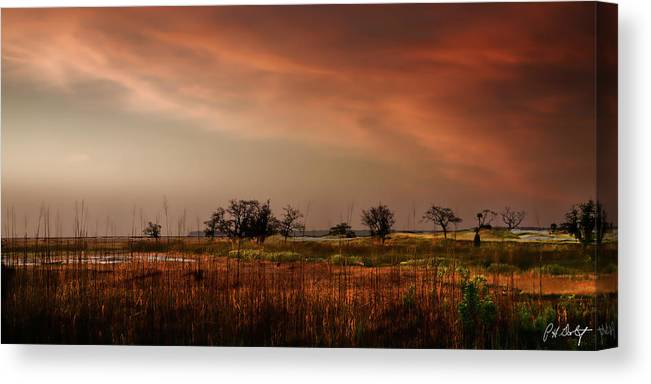 Beaufort County Canvas Print featuring the photograph Marsh Sunrise by Phill Doherty