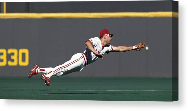 Ball Canvas Print featuring the photograph Chris Sabo by Ronald C. Modra/sports Imagery