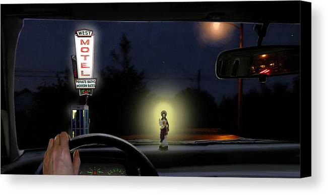 Surreal Canvas Print featuring the digital art The Moment Of My Salvation by Evelynn Eighmey
