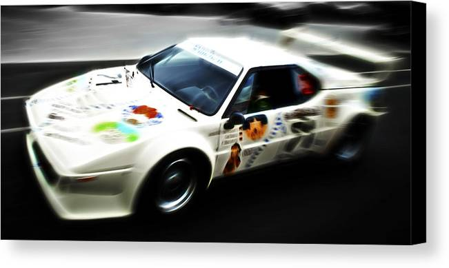 Bmw M1 Canvas Print featuring the photograph 1980 Bmw M1 Procar by Phil 'motography' Clark