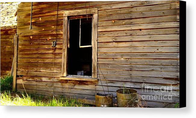 Phil Dionne Photography Canvas Print featuring the photograph Buckets By The Window by Phil Dionne