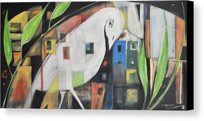 Bird Canvas Print featuring the painting City Strut by Tim Nyberg
