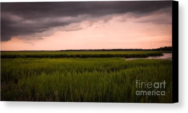 Coastal Carolina Canvas Print featuring the photograph Coastal Carolina Sunrise by Vicki Kohler