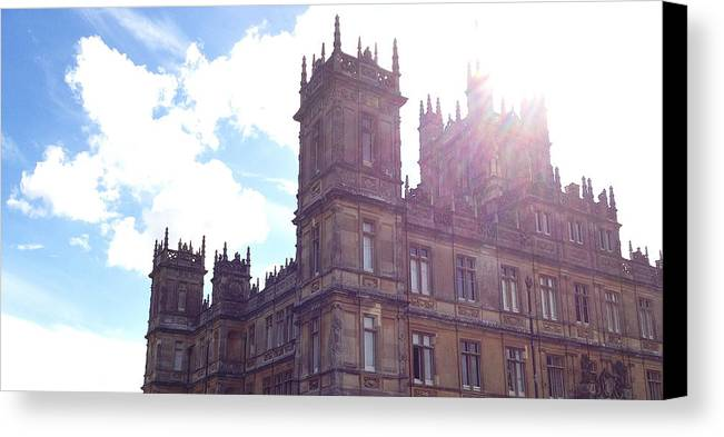 Pbs Canvas Print featuring the photograph Downton Abbey In A Ray Of Sunlight by Nicole Parks