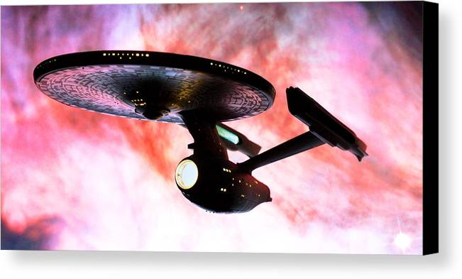 Star Trek Canvas Print featuring the photograph Exploring The Galactic Barrier by Jason Politte