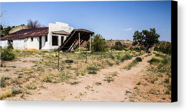 Route 66 Canvas Print featuring the photograph Lean To by Angus Hooper Iii