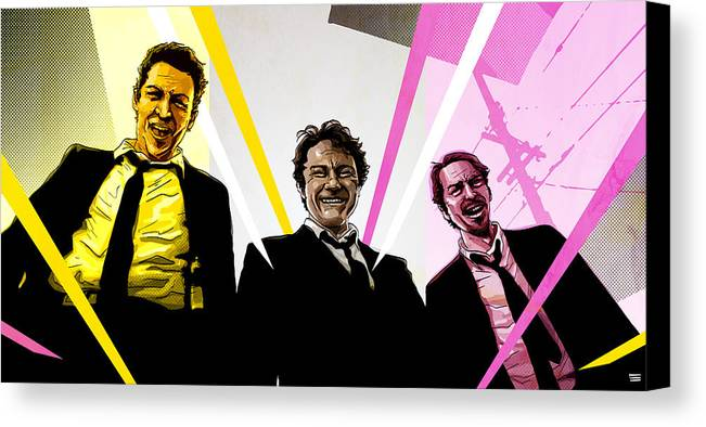 Digital Canvas Print featuring the digital art Reservoir Dogs by Jeremy Scott