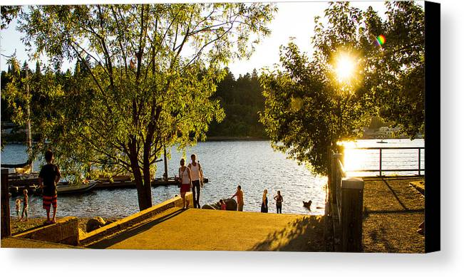 Portland Summer Canvas Print featuring the photograph Summer In Portland by Kunal Mehra
