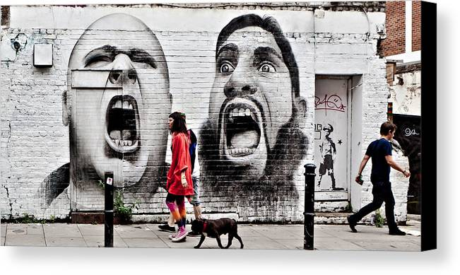 Graffiti Canvas Print featuring the photograph Hey Im Talking To You by Kaz Moutarde