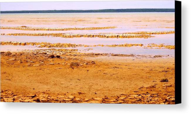 Lake Canvas Print featuring the photograph Sunset On The Mud Flats by Marysue Ryan