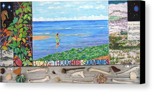 Cape Cod Canvas Print featuring the painting I Sell Prints by Susan Stewart