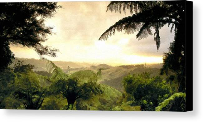 Nature Canvas Print featuring the digital art Picture Of Landscape by Usa Map