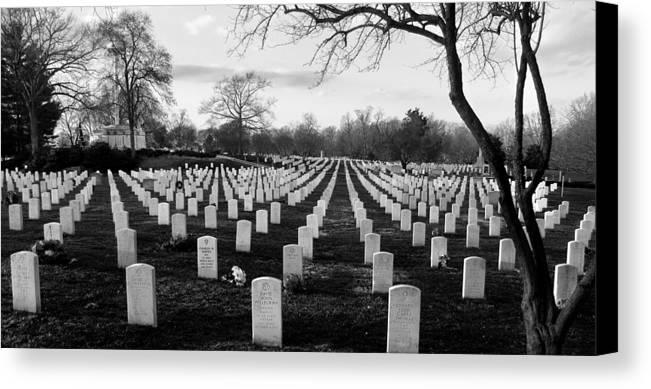 Arlington Cemetery Canvas Print featuring the photograph Arlington National Cemetery by Todd Fox