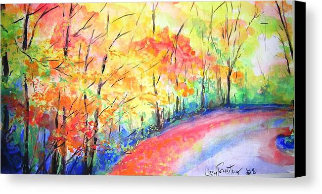 Autumn Canvas Print featuring the painting Autumn Lane Iv by Lizzy Forrester