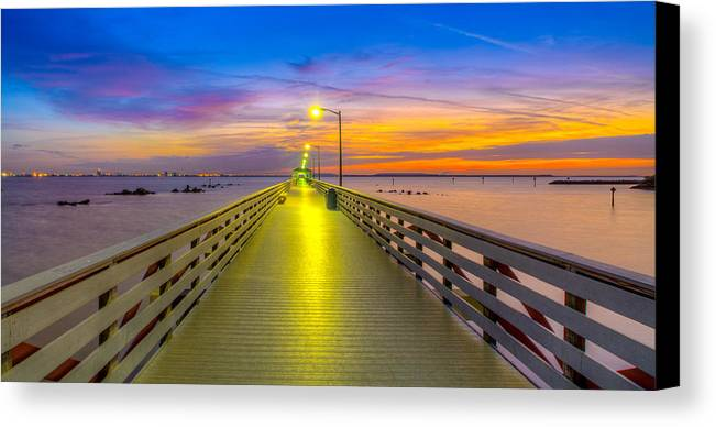 Ballast Point Canvas Print featuring the photograph Ballast Point Sunrise - Tampa, Florida by Lance Raab