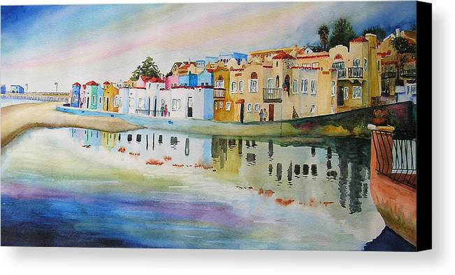 Capitola Canvas Print featuring the painting Capitola by Karen Stark