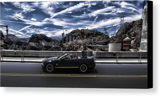 Car Bridge Canvas Print featuring the photograph Car by Marco Moscadelli