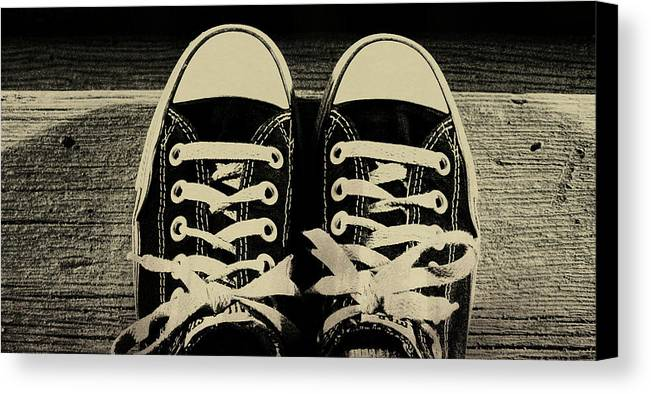 Chucks Canvas Print featuring the photograph Vintage Chucks by JAMART Photography