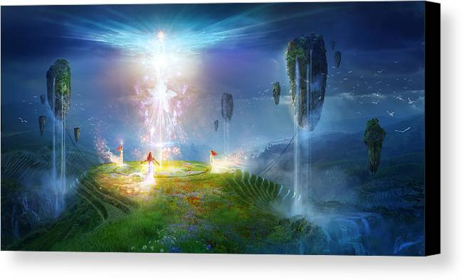 Utherworlds Canvas Print featuring the painting Circle Of Satori by Philip Straub