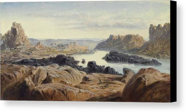 Nature Canvas Print featuring the painting Edward Lear 1812 - 1888 British Philae by Edward Lear