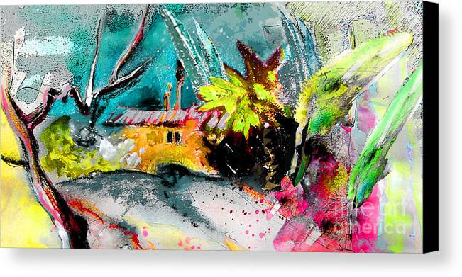 Pastel Painting Canvas Print featuring the painting Glory Of Nature by Miki De Goodaboom