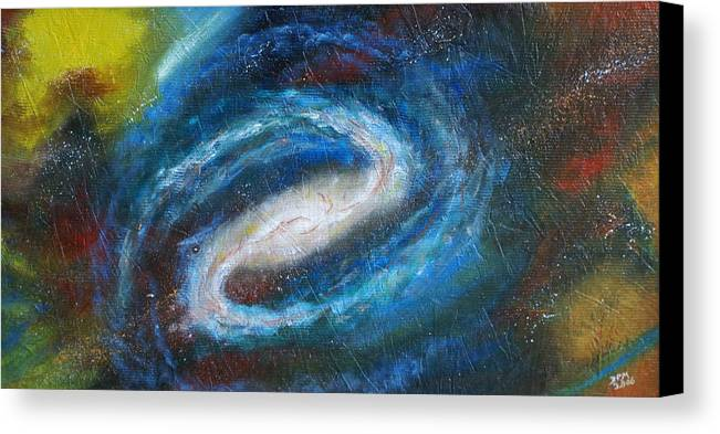 Milky Way Canvas Print featuring the painting Home Is Where The Sun Is by David McGhee