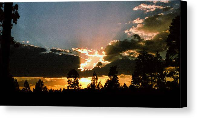 Arizona Canvas Print featuring the photograph Inspiration Sunset by Randy Oberg