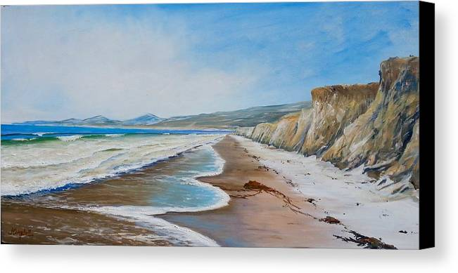 Jalama Canvas Print featuring the painting Into The Wind.... by Jeffrey Campbell
