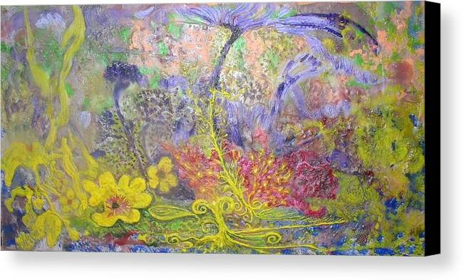 Canvas Print featuring the painting Spirit Garden by Heather Hennick