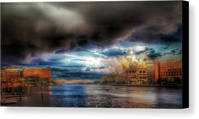 Tampa Canvas Print featuring the photograph Storm On The Way by Mike Dunn