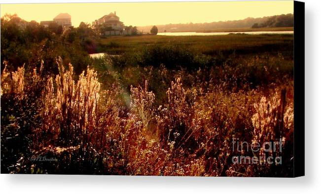 Marsh Canvas Print featuring the photograph Sunset On The Marsh by Patricia L Davidson