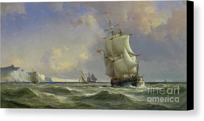 The Canvas Print featuring the painting The Gathering Storm by Anton Melbye