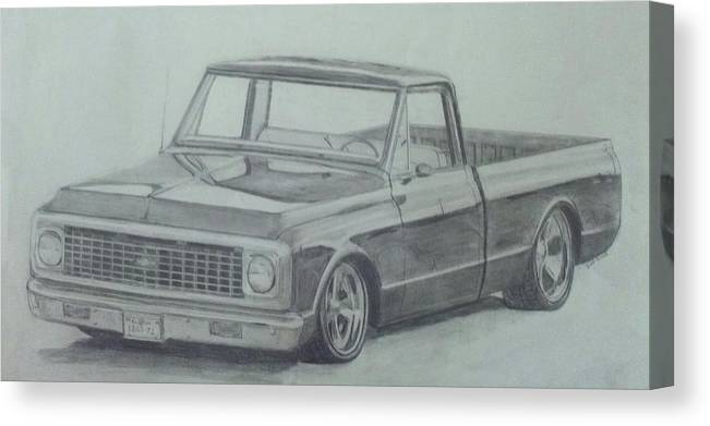Truck Canvas Print featuring the drawing 72 by Bradley  Howell