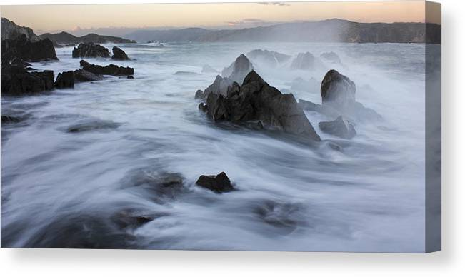 Nature Photos Canvas Print featuring the photograph Motion Ocean by Paul Maples