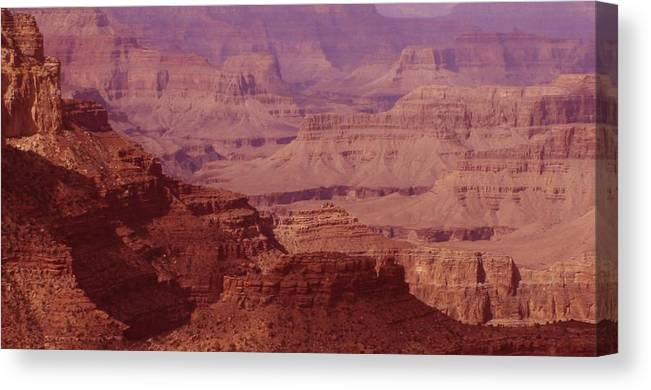 Grand Canyon Canvas Print featuring the photograph Grand Canyon Distances by Christopher Kirby