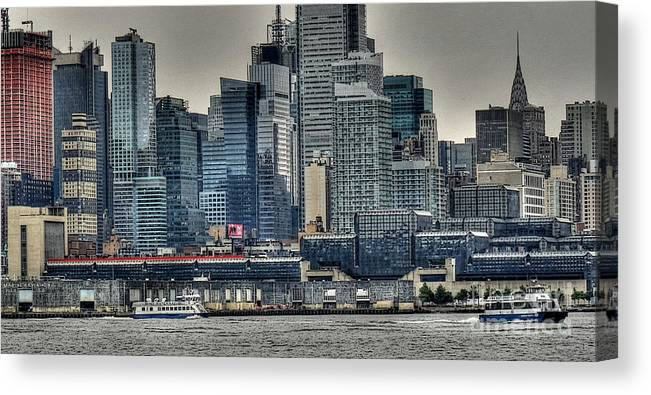 New York City Canvas Print featuring the photograph New York Waterways by David Bearden