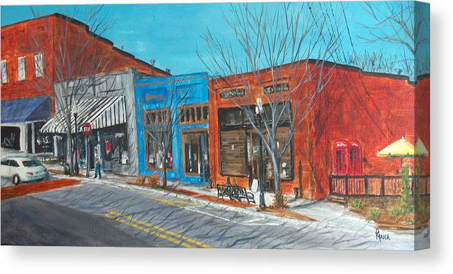 Townscape Canvas Print featuring the painting Paintin The Town by Pete Maier